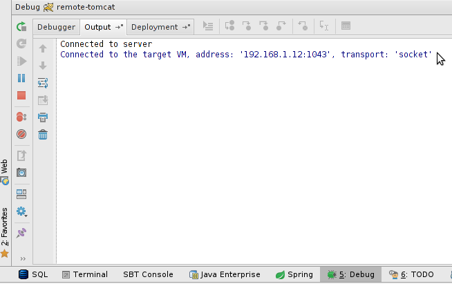 How to Remotely Debug Application Running on Tomcat From Within
