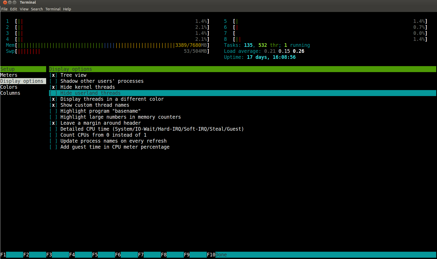 Htop - The process viewer for Linux and Mac - Trifork Blog