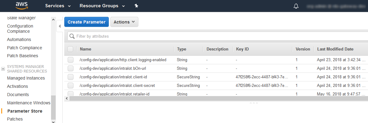 Integrating the AWS Parameter Store with Spring Cloud